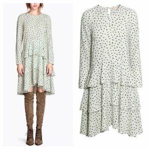 H&M Mint Ruffled Midi Dress Size 4